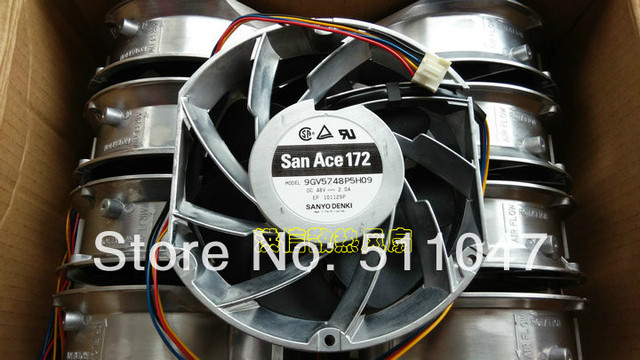 sanyo san ace 172 9gv5748p5h09 dc48v 2 0a four line fan invertersanyo san ace 172 9gv5748p5h09 dc48v 2 0a four line fan inverter ball fan switch server chassis power supply etc