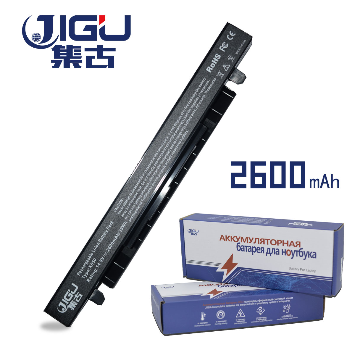 JIGU 4Cell Laptop Battery For Asus X452C X452E X550C X550CL X450VC X450E R510E F552E F550E A450CA A450VE X450LA X450VC