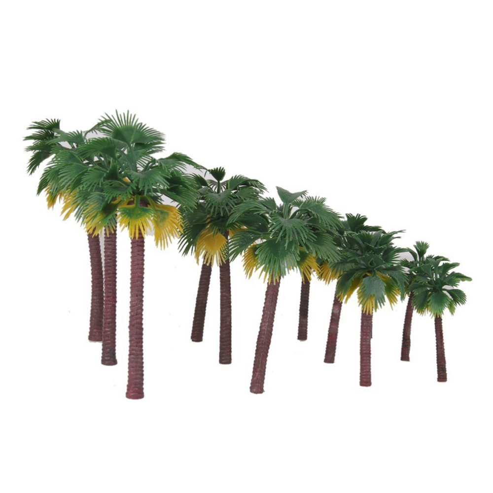 aliexpress com buy 12pcs layout rainforest plastic palm tree
