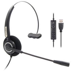 Image 1 - VoiceJoyชุดหูฟังUSBแจ็คธุรกิจชุดหูฟังตัดเสียงรบกวนด้วยไมโครโฟน,ควบคุมระดับเสียงปิดเสียงสำหรับแล็ปท็อป