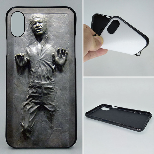 the best attitude a22fe 617e9 US $3.38 11% OFF|Phone Case For iPhone X XR XS Cases Han Solo Carbonite  Star Wars 2D Paiting Back Silicon Cover For iPhone XS Max Soft TPU  Covers-in ...