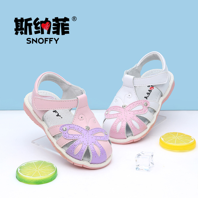 2017 Summer Baby Girls Flats Princess Infant Shoes First Walker Sweet Batterfly Close Toe Kids Leather Shoes TX142