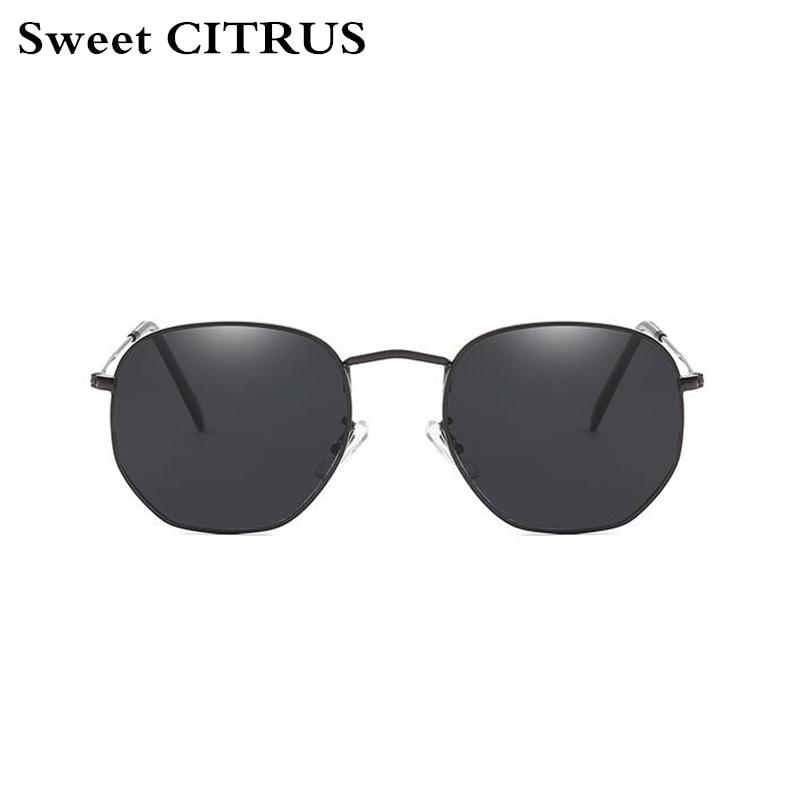 318ba98506334 Doce de CITROS Hexagonal Revestimento de Espelho Óculos De Sol Dos Homens  Das Mulheres Designer De Marca Óculos de Sol Do Vintage oculos de sol  masculino ...