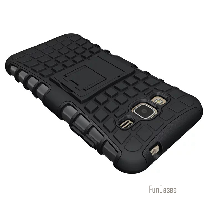 For Samsung J3 2016 Cases Armor Cover Plastic Back Case For Samsung Galaxy J3 2016 J320 J320F Phone Bags Cases With Kick Stand