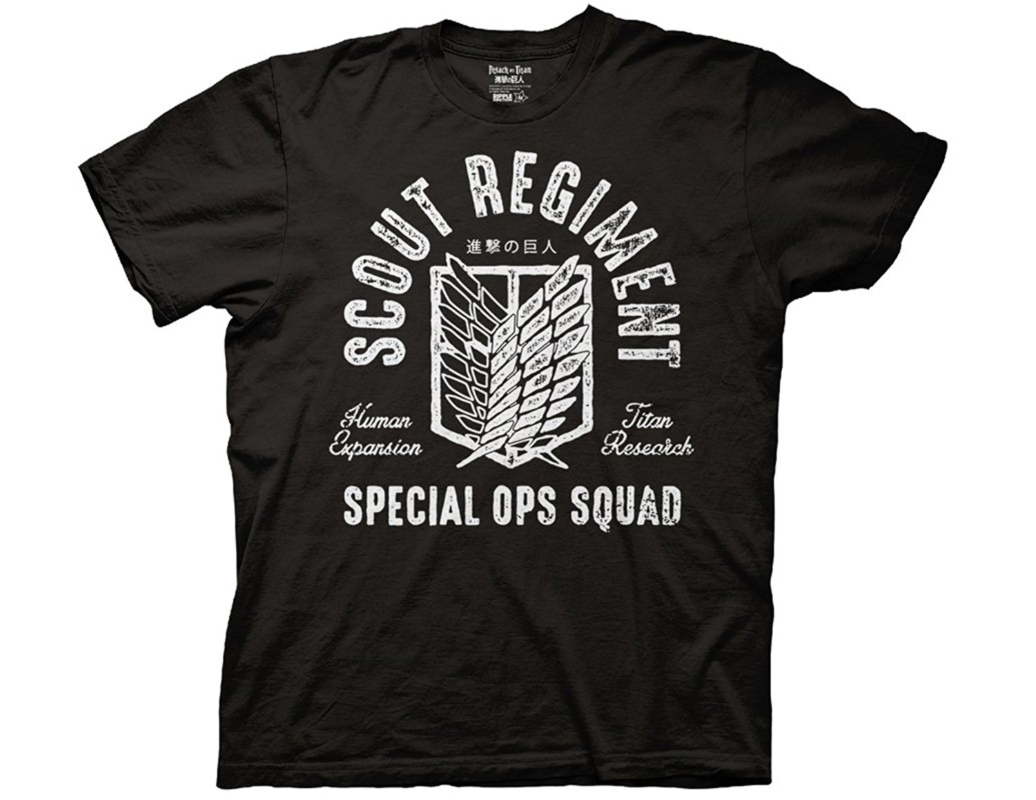 Ripple Junction Attack on Titan Scout Regiment Special OPS Squad Adult T-Shirt T Shirt Summer Famous Clothing Basic Tops