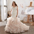 Роскошные Vintage V Шеи Кружева Аппликации Оборками vestido де novia Плюс Размер Белое Шампанское Свадебное Платье Формальные Невеста Платье CGT146