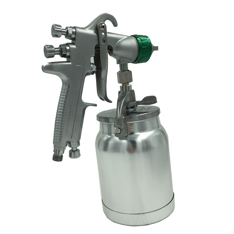 цена на SAT1155 hvlp gun airbrush paint car hvlp spray machine air tools pneumatic gun tank nozzle sprayer
