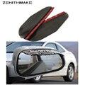 Universal 2 unids/set PVC Coche burlete auto mirror protección contra la Lluvia Espejo Retrovisor lluvia ceja sombra de La Cubierta del protector