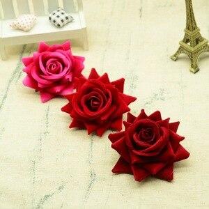 Image 2 - 100 adet kaliteli yapay çiçekler için noel ev dekorasyonu düğün gelin aksesuarları diy çelenk hediyeler bir kap ipek güller