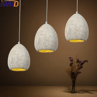 IWHD Style Loft Industrial Vintage Lighting Hanging Lamp LED Cement Rotro Light Fixtures Bedroom Living Room Kitchen Lampara