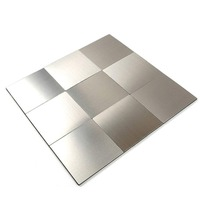 12 Inch Square Peel and Stick Tile Backsplash for Kitchen Bathroom Stove Walls Self Adhesive Aluminum Surface Metal Mosaic Tiles