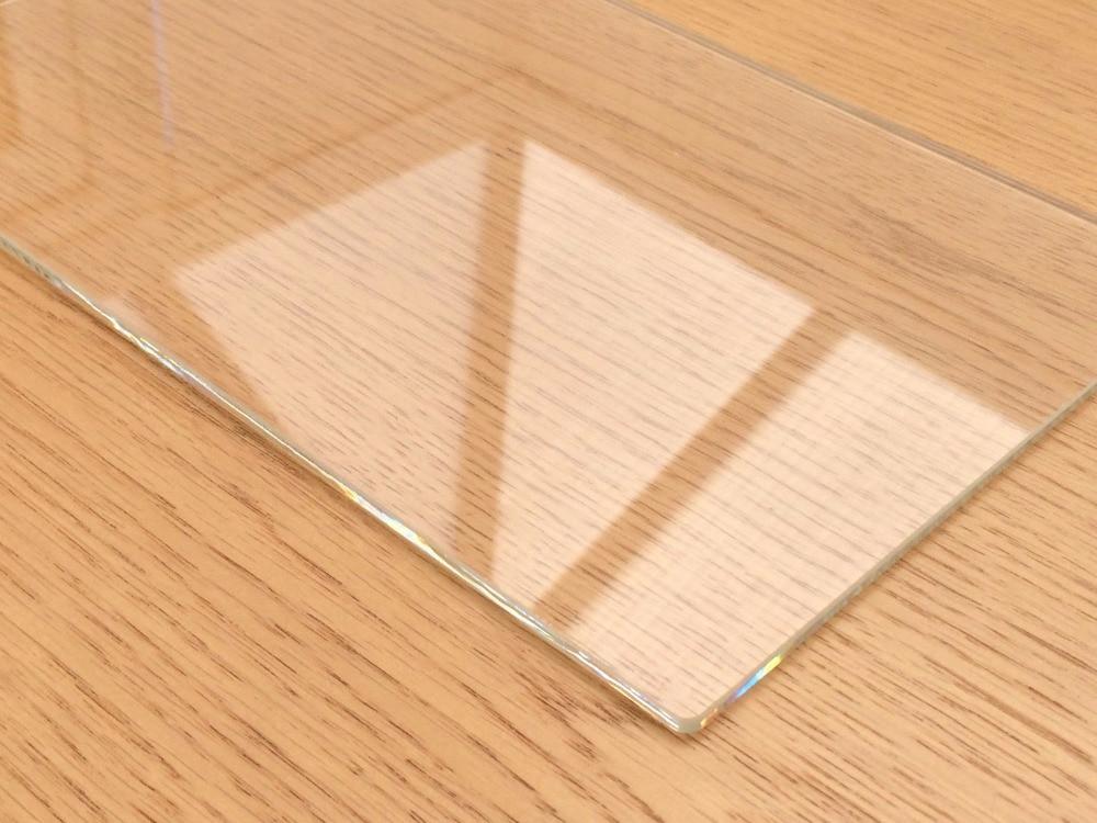 220mm x 280mm x 3mm placa de vidrio borosilicato para Extra grande Tevo Tarantula 3D impresora Boro vidrio cama (220x280x3mm cuadrado)