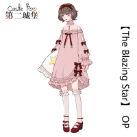 Sweet Lolita Dress Original Design OP Lolita Dress Cute Girl Princess Pink Black Dress Pink Black