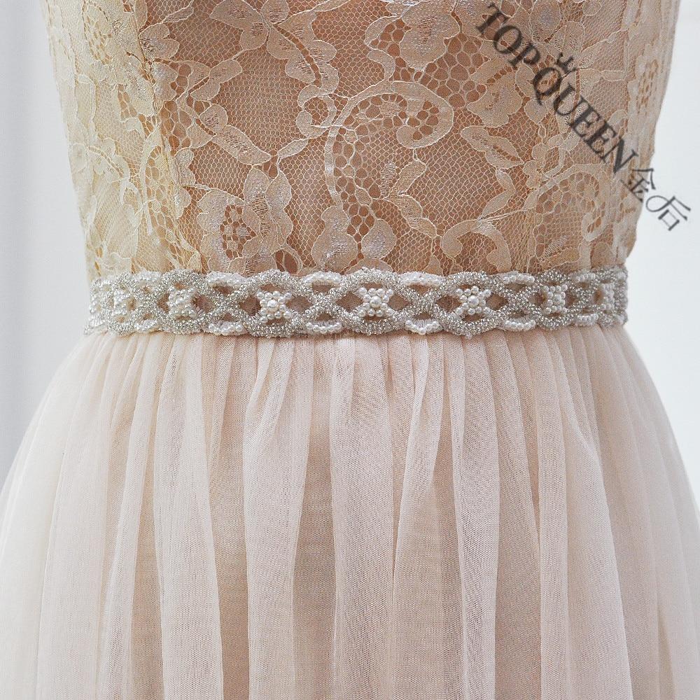 Handmade crystal bridal belt rhinestone pearl luxury wedding dress - Topqueen Free Shipping S221 Pearls Wedding Belts Bride Bridesmaid Sash Belt For The Wedding Evening Party