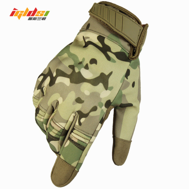 2018 New Military Combat Gloves Men's Waterproof Army Tactical Gloves Camouflage Full Finger Touch Gloves Paintball Gloves