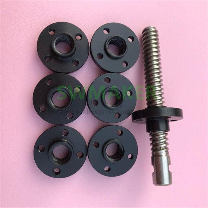 SWMAKER 1pcs T Type POM Nut T8 Lead Screw Nut T8*2 / T8*4 / T8*8