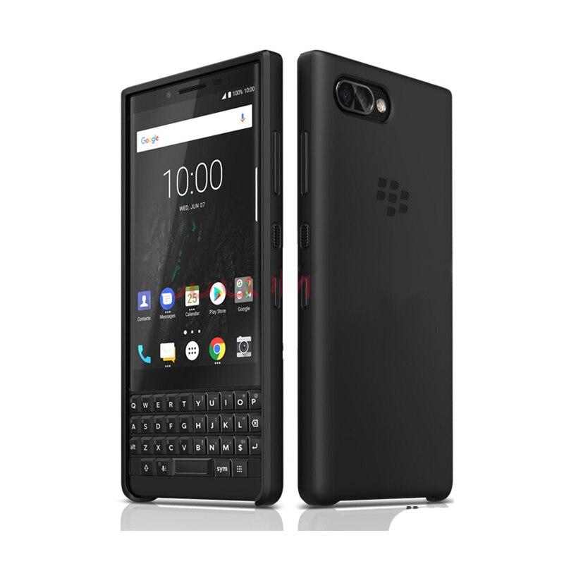 정품 가죽 케이스 blackberry KEY2 비즈니스 플립 백 & 실리콘 TPU 소프트 커버 키 2 새로운