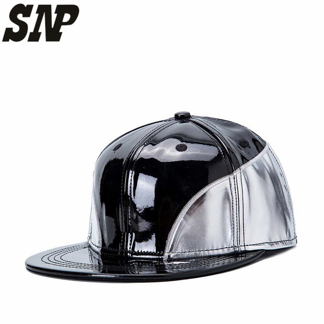 SNP PU Leather Baseball Cap Winter Hip Hop Caps Biker Trucker Sports  Snapback Hats For Men Women Hats And Caps Wholesale 9d93a2cd19c