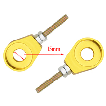 GOOFIT 15mm-Performance of Chain Adjuster Tools Set for Dirt bike yellow style G044-701