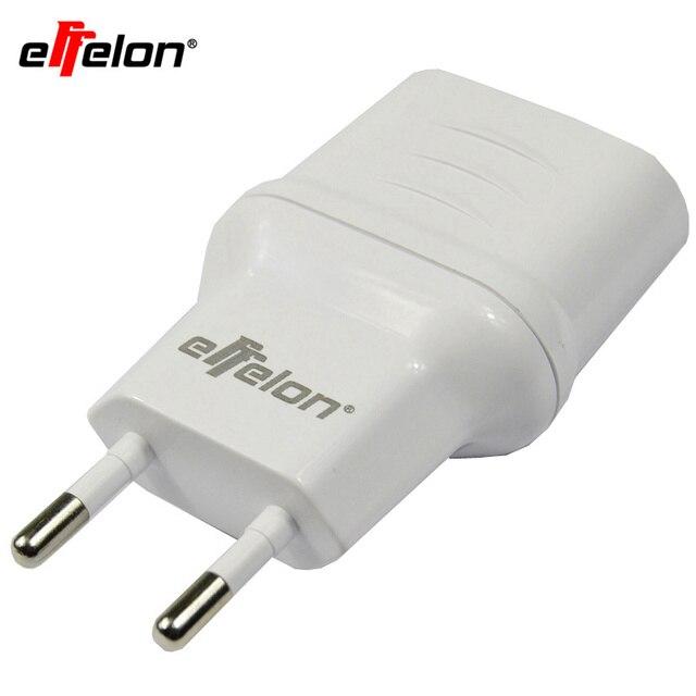 Effelon 2 Ports LED Light EU Plug USB Charger 5V 2A Mobile Phone Wall USB Data Charging For iPhone For Samsung