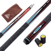 CUESOUL Full Canadian Maple Wood 1/2 Jointed Billiard Pool Cue 58 inch 19 oz with 13mm 6 Layer Baked Pig Leather Cue Tip