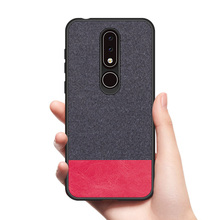 цена на CoolDeal for Nokia 6.1 Plus case Nokia X6 back cover soft silicone edge shockproof fabric case for Nokia X6 cover capa coque
