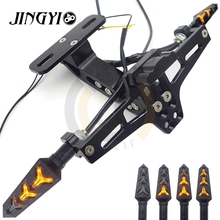 CNC Motorcycle License Plate Bracket Flow Indicator Cover  For Kawasaki z900 z750 accessories ninja 300 er5 z1000sx er6f