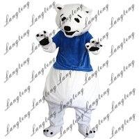 2018 Новая горячая Распродажа Белый медведь Маскоты костюм для взрослых Размеры Хэллоуин наряд Необычные платья Костюм Бесплатная доставка