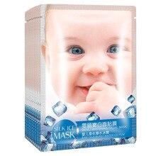 5ks Péče o pleť dětské hedvábí obličejová maska kolagenová esence oční maska oprava suchá kůže bělení kyselina hyaluronová vlhkost krystalové masky