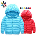Autumn Girls Boys Parka Outerwear Thin Casaco Kids Clothes Casual Jacket Down Baby Coat Toddler Children Clothing 2-15 Year
