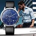 Clásico de La Moda Reloj de Cuarzo Hombres Marca de Lujo de Cuarzo Ocasional Correa de Cuero Hombre Reloj relojes de Pulsera Del Deporte hombre montre 2017