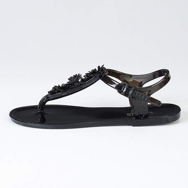 fc8986086 Detail Feedback Questions about POLALI Flip Flops Sandals Women Flat Sandal  Summer Beach Slippers With Flower Solid Casual Jelly Shoes Melissa on ...