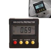 360 Grados Mini Digital Inclinómetro del Prolongador Nivel Caja Electrónica Base Magnética Herramientas de Medición