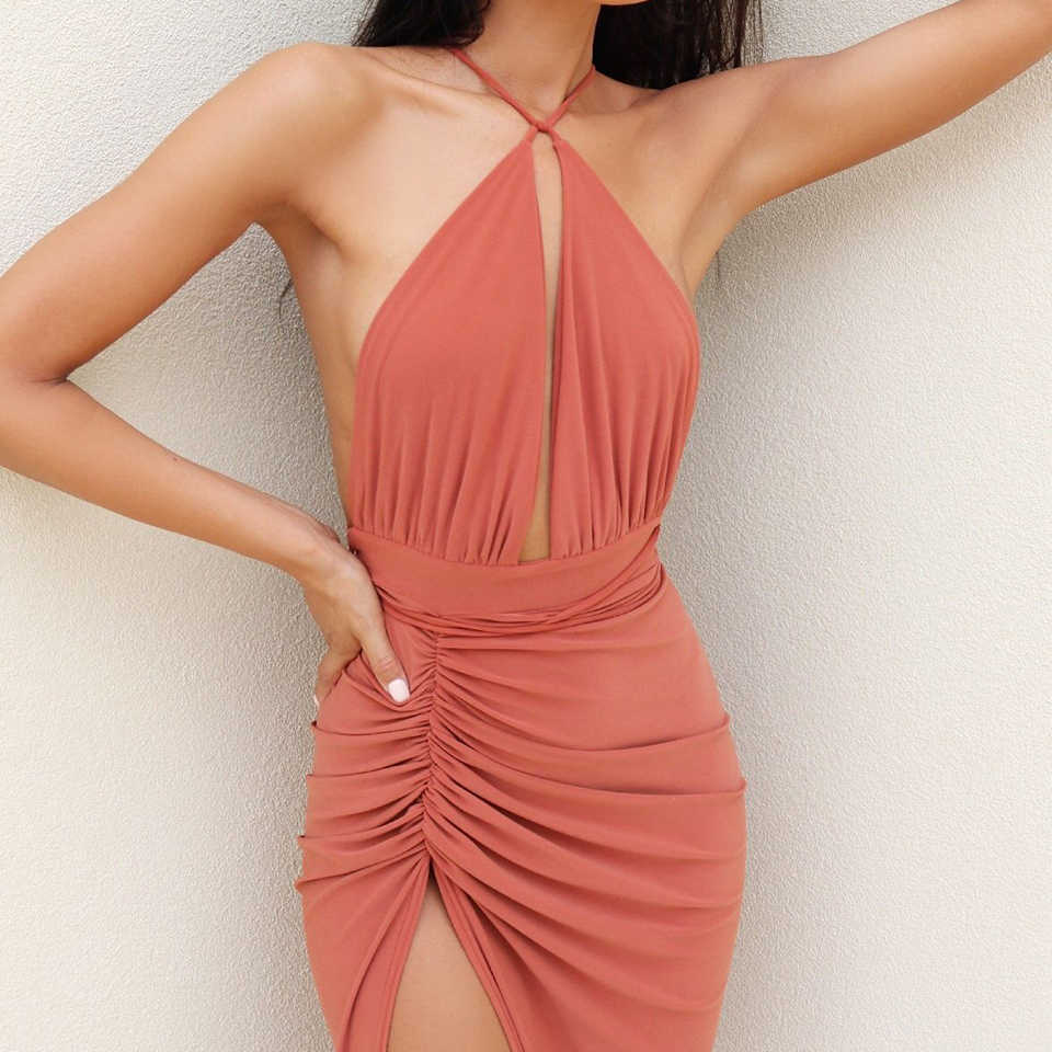 b7674918d7 JillPeri Fashion Women Summer Dress Deep V Neck Multi-Way Strap Vacation  wear Sexy Solid Casual Night Club Party Dress Vestidos