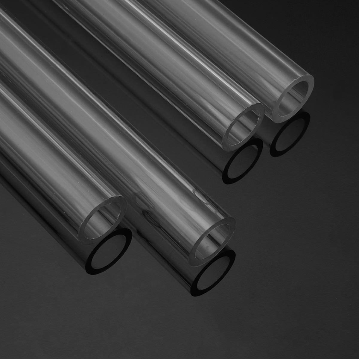 Good Hardness 4pcs 500mm PETG Tubing Rigid Hard Tubes 10/14mm Clear Bending Hard Tubing Hose