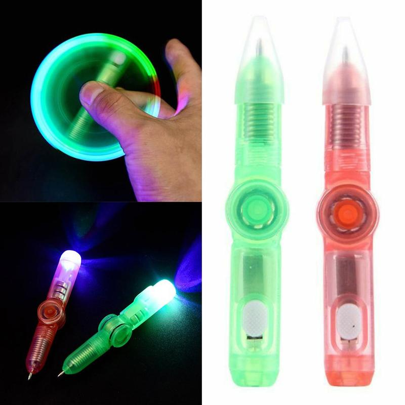 LED Spinning Pen Ball Pen Fidget Spinner Hand Top Glow In Dark Light EDC Stress Relief Toys Kids Toy Gift LED Spinning Pen