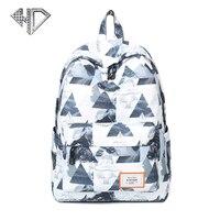 Landscape Print Female Shoulder Bag Pretty Style Simple Backpack Ployester Large Capacity School Bags E