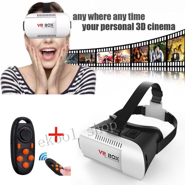 3D realidad Virtual VR caja de los vidrios del auricular casco para Universal del teléfono móvil