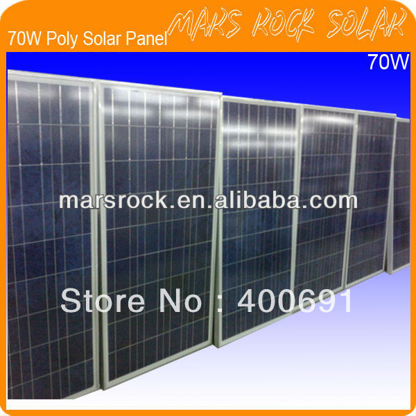 70W 18V Polycrystalline Silicon PV Panel Module with Special Technology, Fend Against Snowstorm & Wind, Beautiful Appearance 35w 18v polycrystalline solar panel module with special technology high efficiency long lifecycle fend against snowstorm