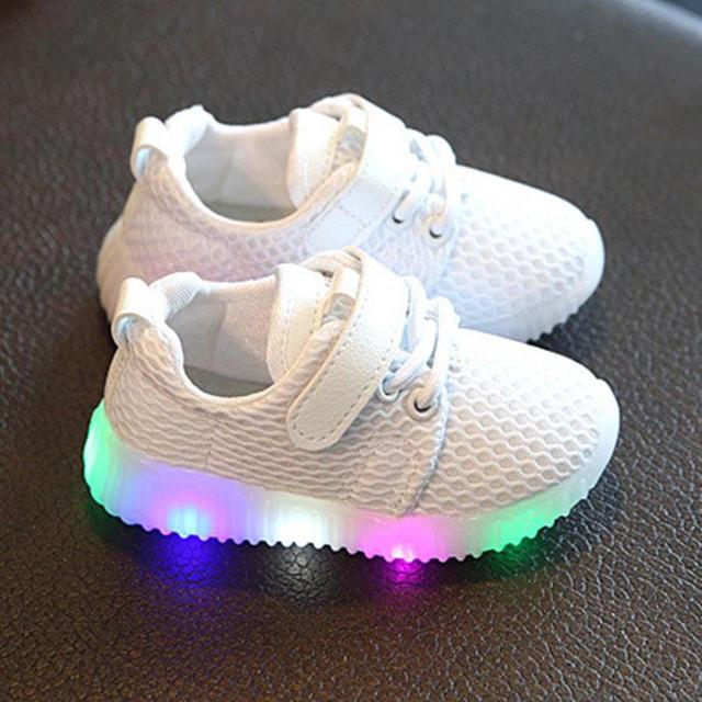 2017 itaar resplandor shoes de malla transpirable bebé de algodón suave y cómodo 3 de color rosa/negro/blanco