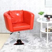 European Fashion Chair High Grade Shiny Leather Chair Chair Rotating Bar Chairs Leisure Bar