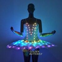 Полноцветный световой балетная юбка дистанционный пульт изменение цвета световой юбка