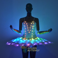 Full color luminous ballet skirt remote control color changing luminous skirt