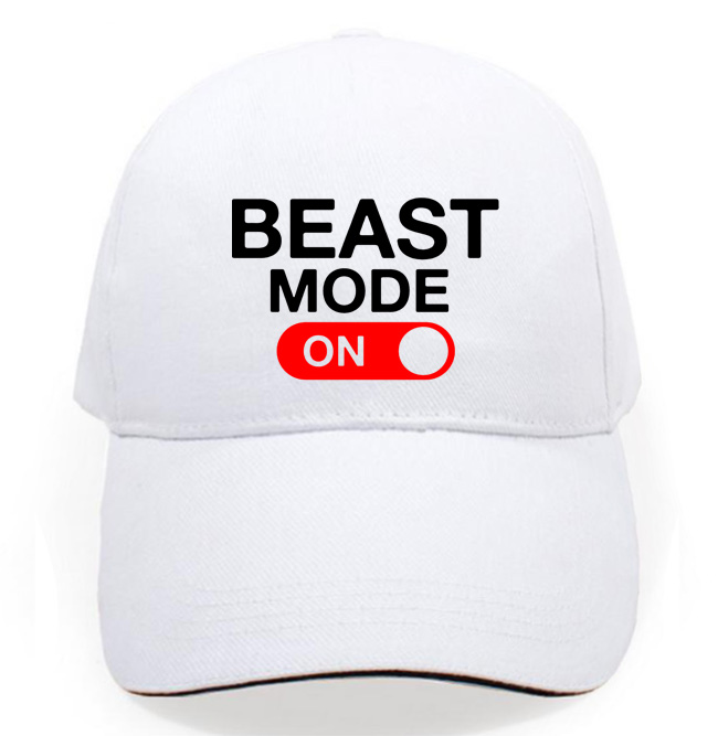 US $8 99  Men women cap BEAST MODE ON skateboard Snapback hats brand hip  hop golf caps sun visor fashion street skateboard casquette-in Sun Hats  from