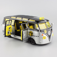 1 25 Scale Kids Classic VW Volkswagen Van Samba Mini Bus Taxi Refitted Diecasts Toy Vehicles