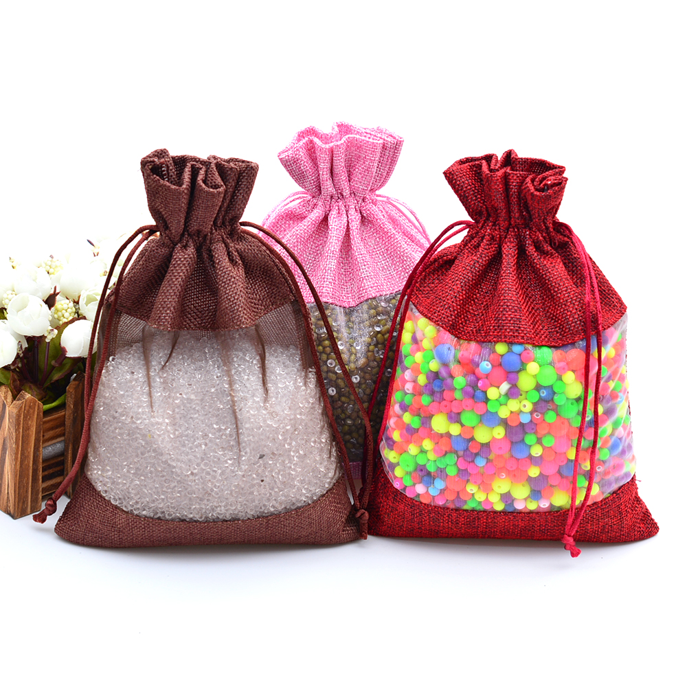 10 Organza Bags Gift Pouches Jewellery Packaging Wrapping Wrap Mesh Drawstring