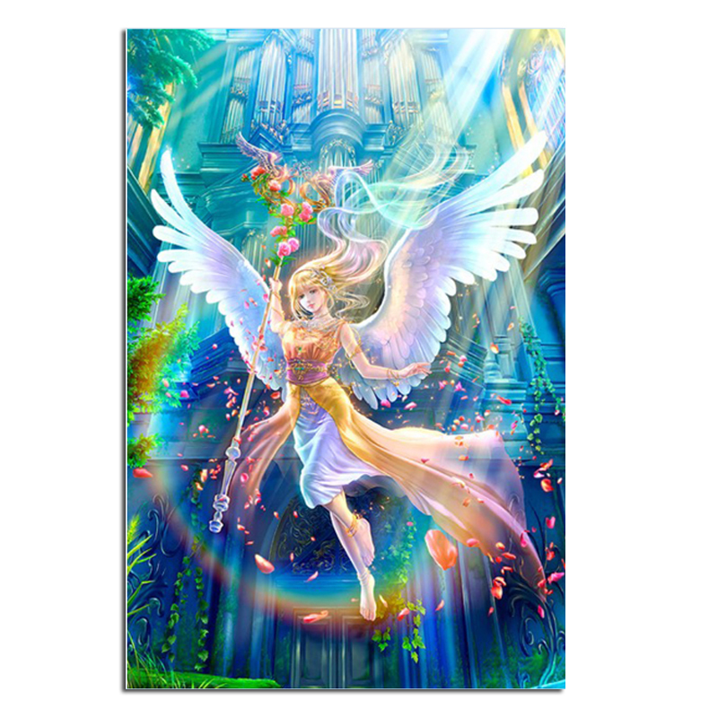 angel dream 40x60 Cash Pattern Diamond Embroidery DIY Needlework Diamond Painting Cross Stitch Full Drill Rhinestones Painting