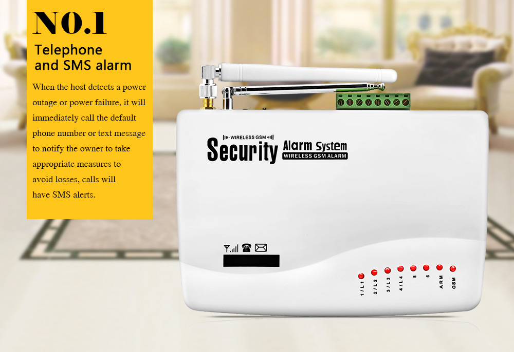 【NEW ARRIVAL】. Drahtlose GSM Alarm System Für Home Security System Mit Wired  ...