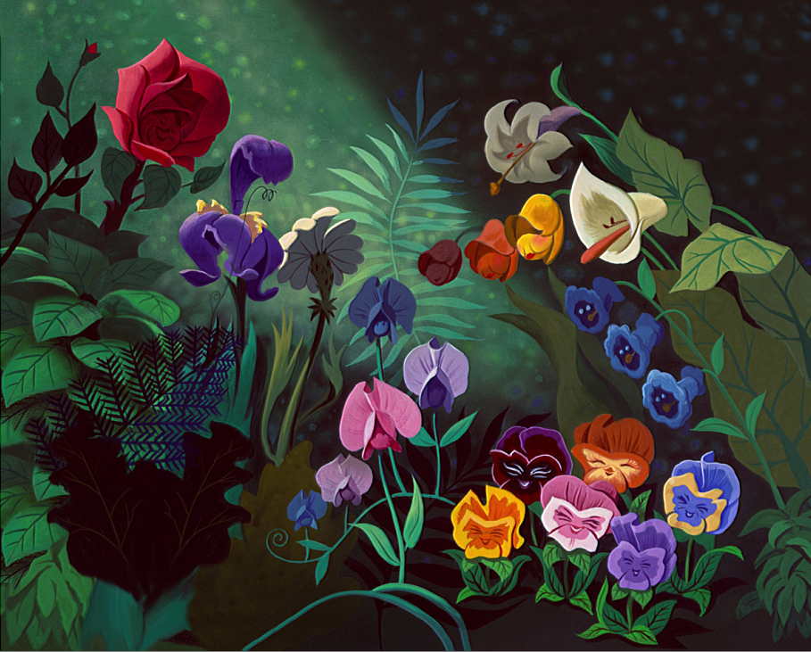 5x7ft alice wonderland rose flowers leaf forest custom photo studio backdrop background vinyl. Black Bedroom Furniture Sets. Home Design Ideas