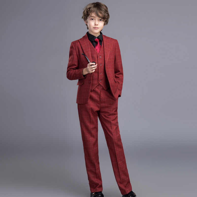 High Quality Elegant Honorable Tuxedos Boy's Worsted Custom Color Regular Special Wedding Boys' Attire Tuxedos For Kids XY011